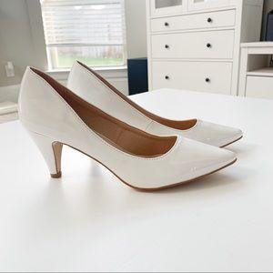 Forever White Pat Heels Grande-22